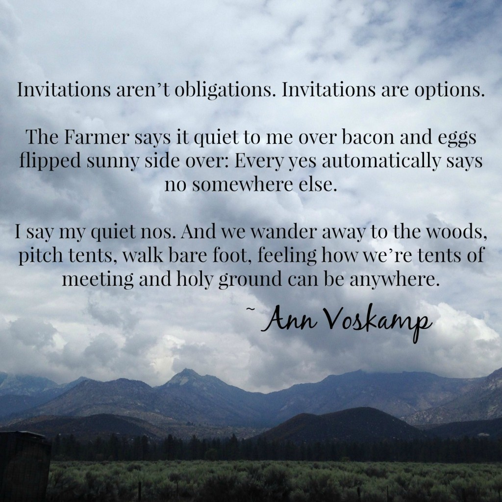 Ann Voskamp quote - joannebischof